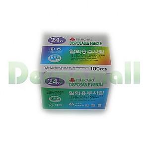 [씨피엘]일회용주사침(Disposable Needle) 24G (3/4인치)