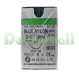 나이론봉합사(Nylon)3/0-25mm (NB324)